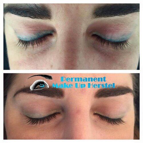 Grote Blauwe eyeliners verwijderen