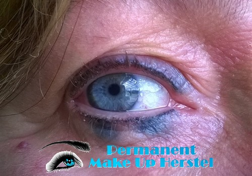 Uitgelopen eyeliner